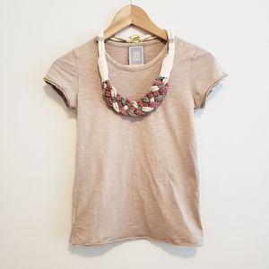Mango Tan Tee with Detachable Necklace